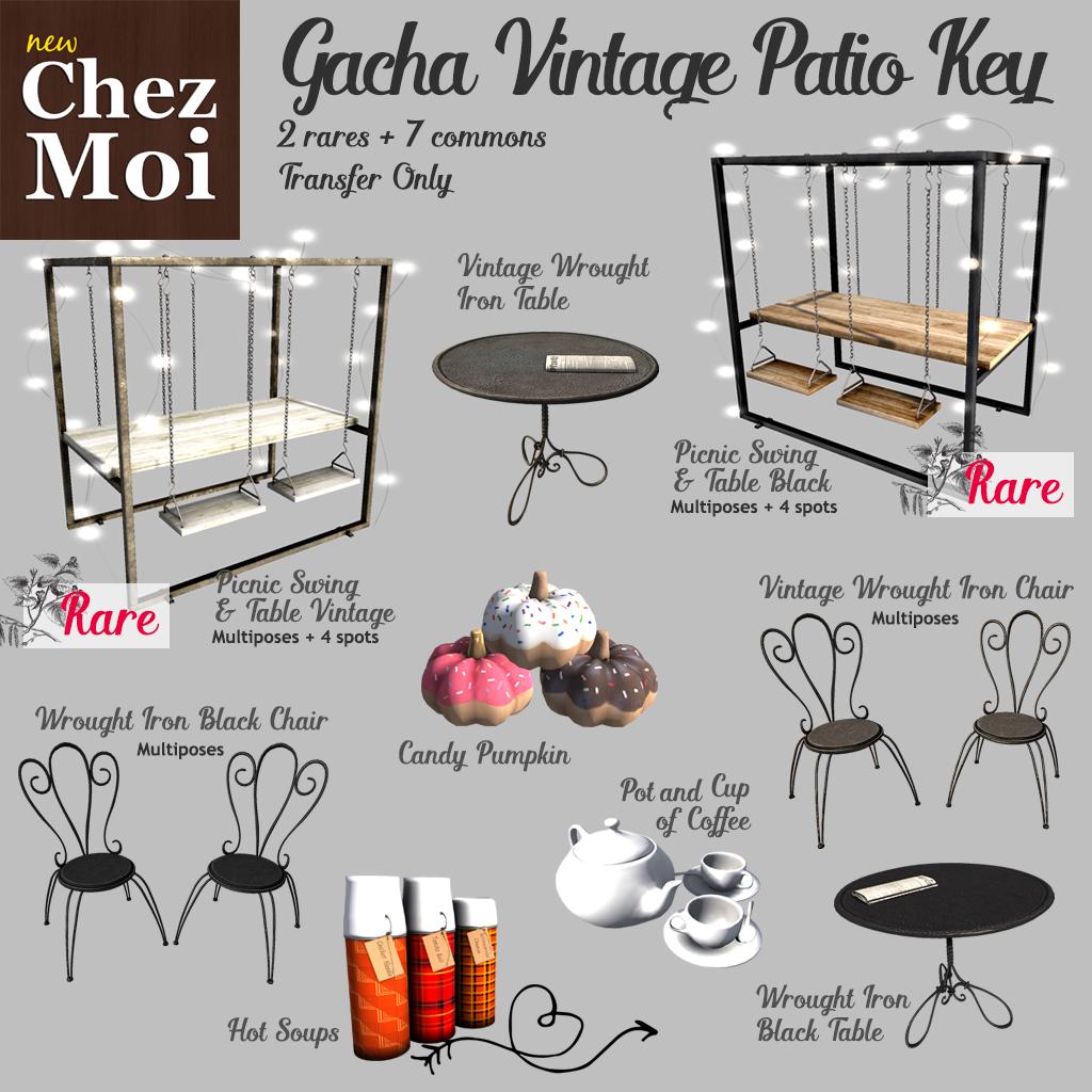 Gacha Vintage Patio Key CHEZ MOI