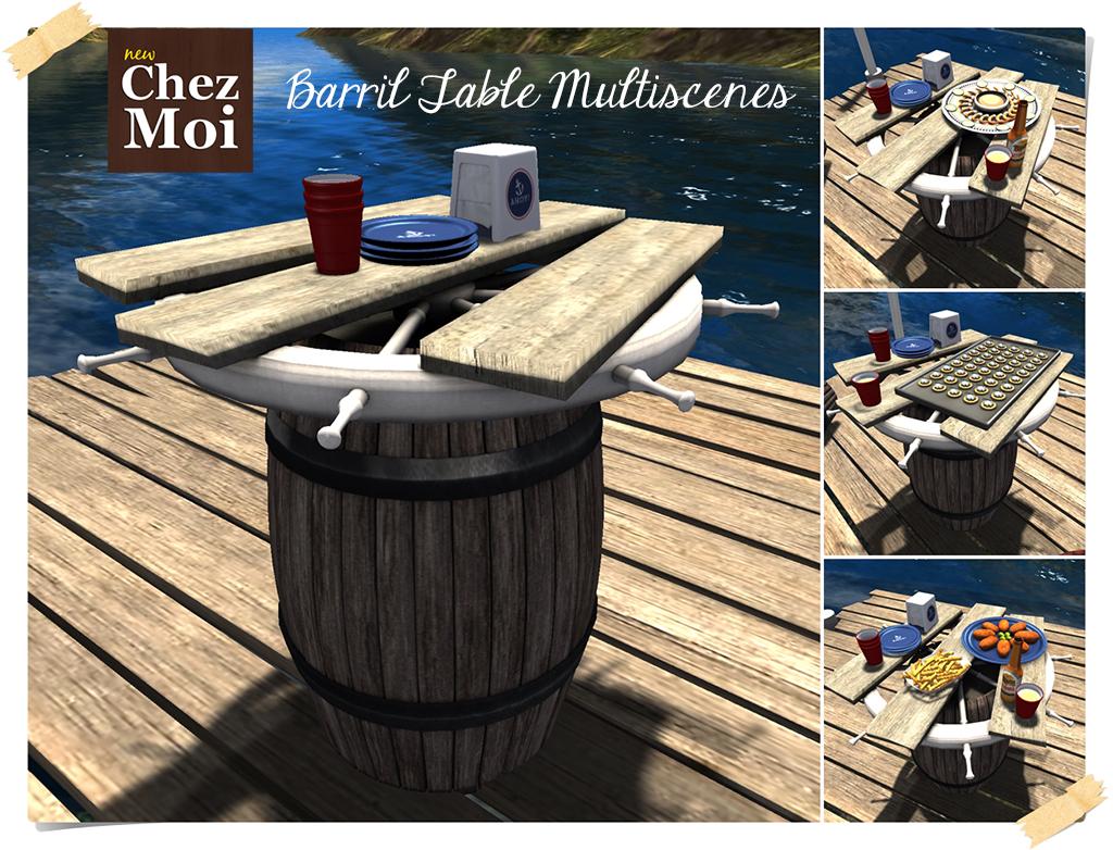 Barril Table CHEZ MOI