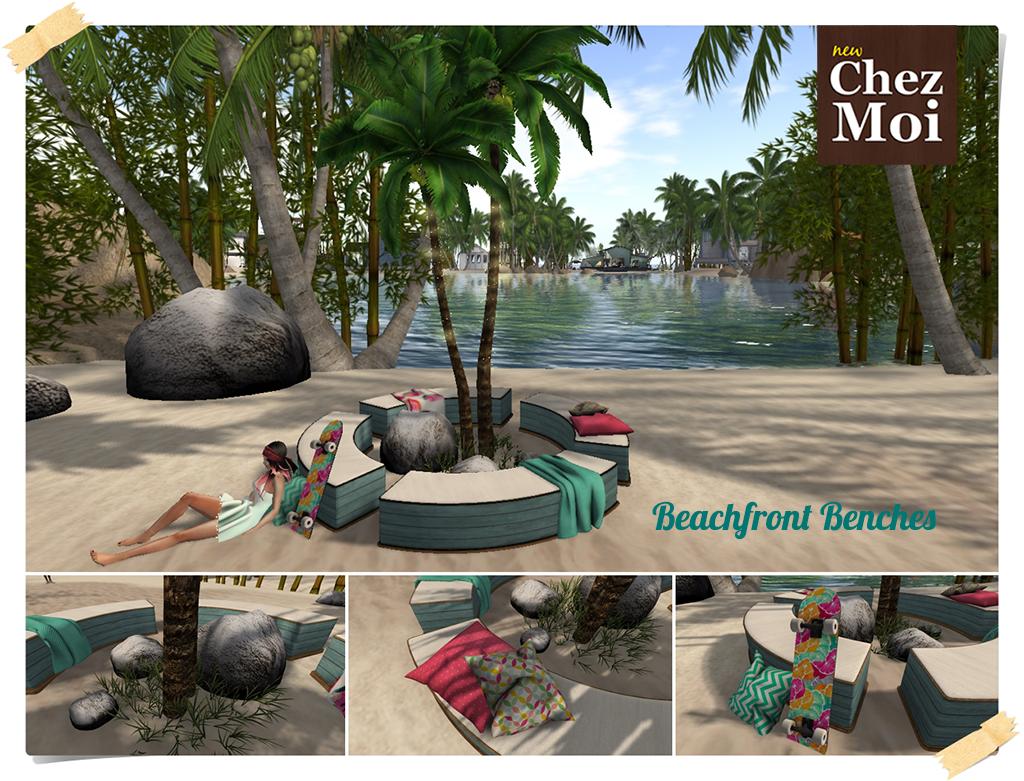 Beachfront Benches CHEZ MOI