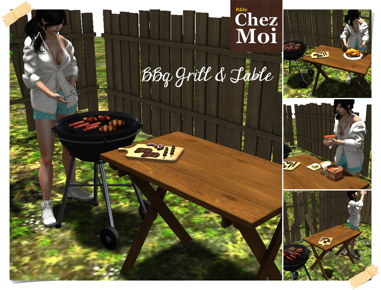 bbq grill and table