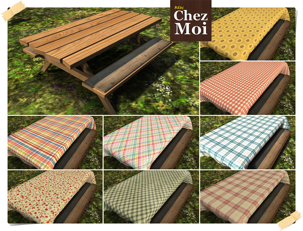 table cloth picnic table