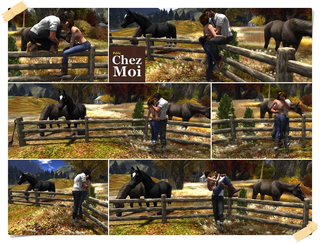 Fence & Horses Couple Poses CHEZ MOI