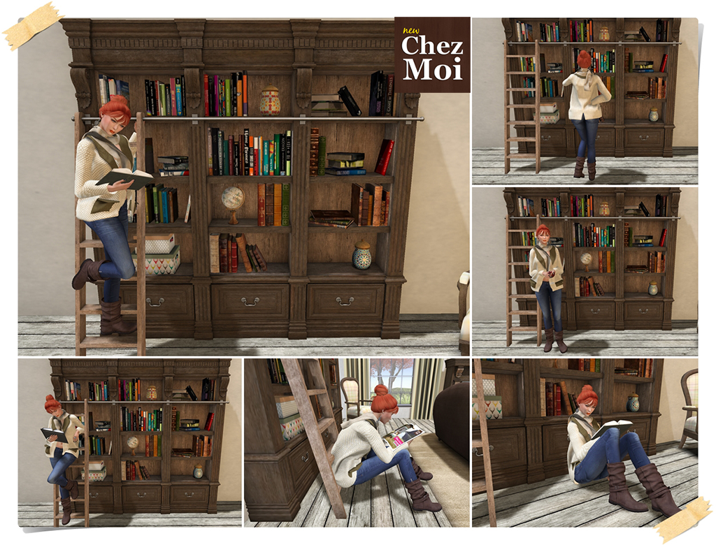 Montclair Bookcase Single Poses CHEZ MOI