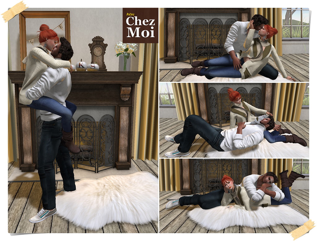Montclair Fireplace Decor Poses 3 CHEZ MOI