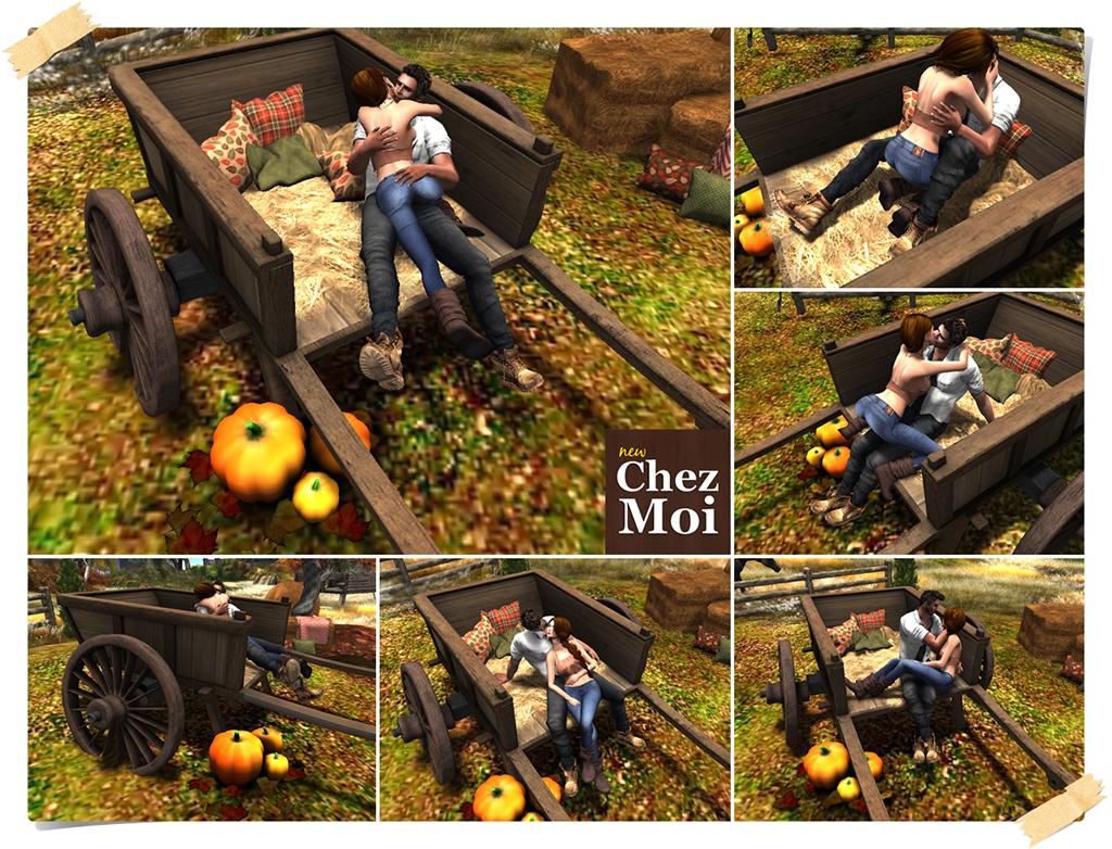 Wagon Couple Poses CHEZ MOI