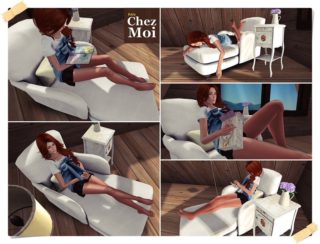 Shabby Lounge Single Poses CHEZ MOI