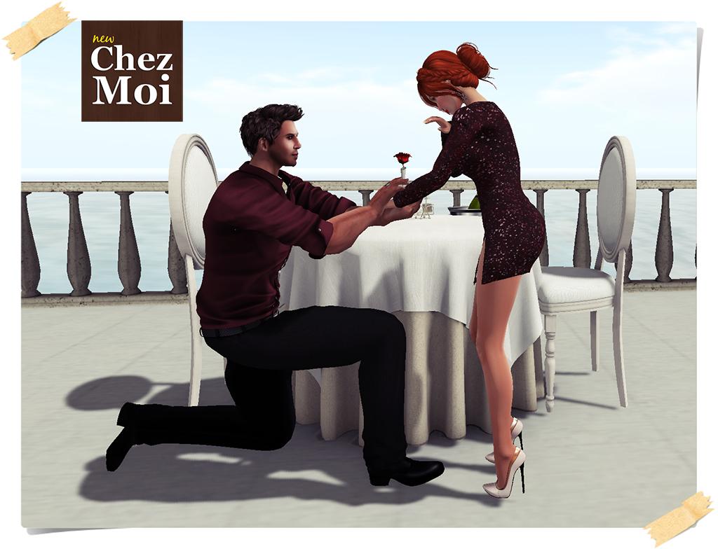 Romantique Proposal CHEZ MOI