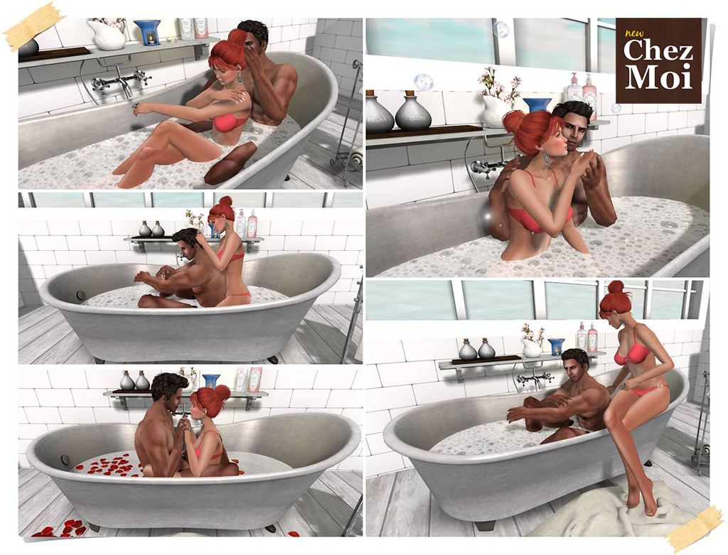 Supreme Bathtub Couple 2 Poses CHEZ MOI
