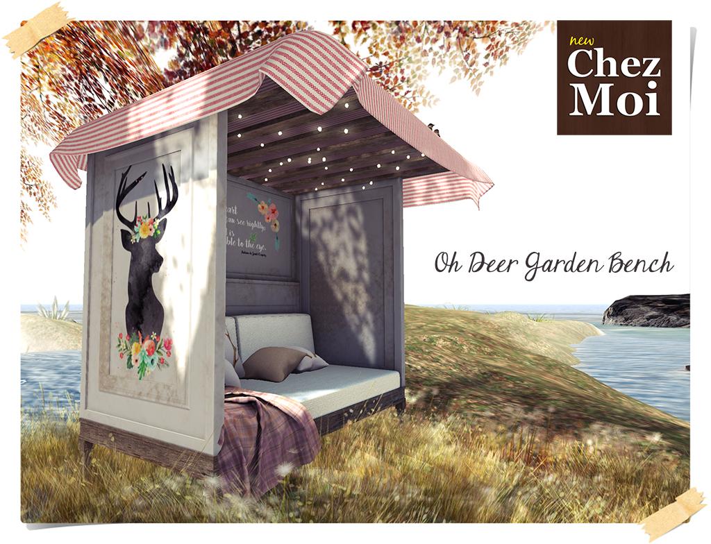 Oh Deer Garden Bench 1L CHEZ MOI