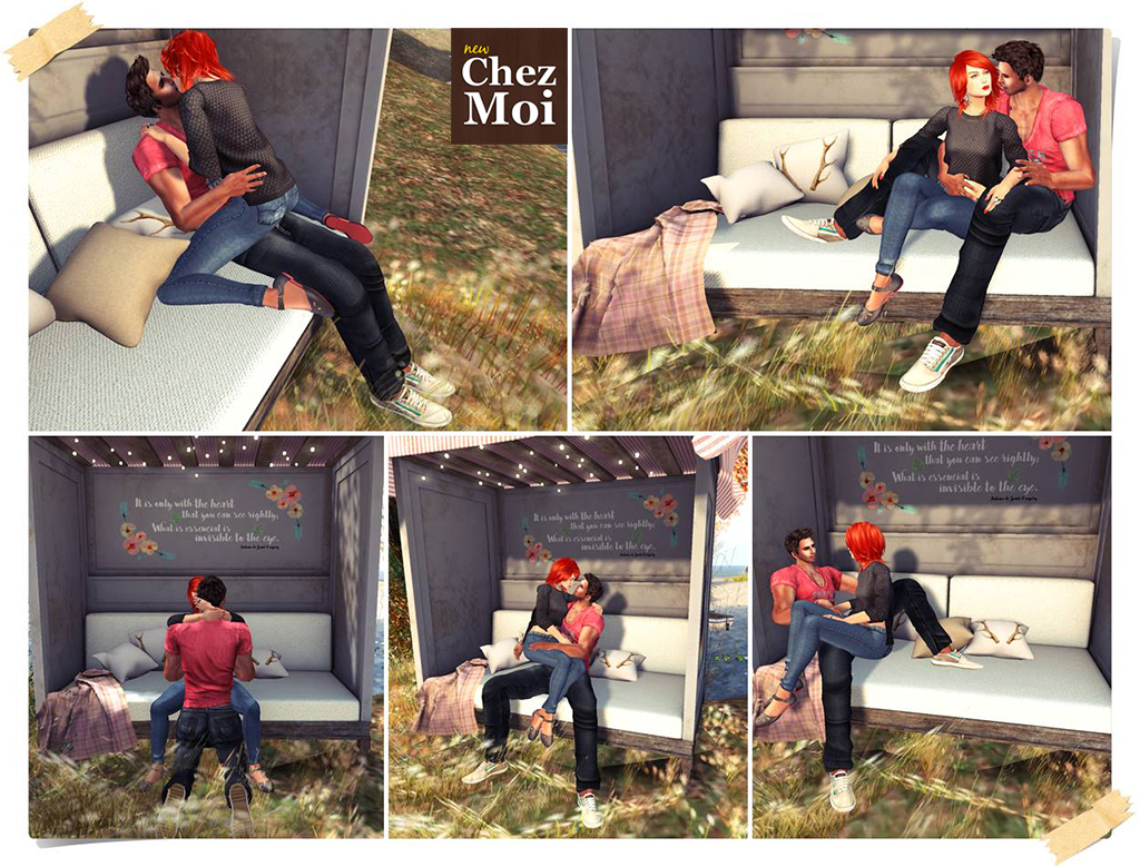 Oh Deer Garden Bench Couple Poses 1 CHEZ MOI