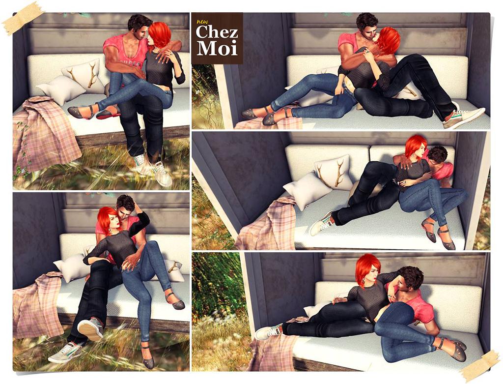 Oh Deer Garden Bench Couple Poses 2 CHEZ MOI