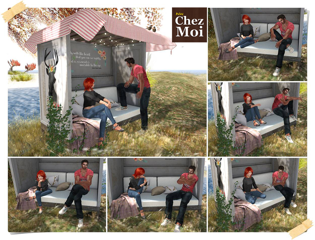 Oh Deer Garden Bench Single Poses CHEZ MOI