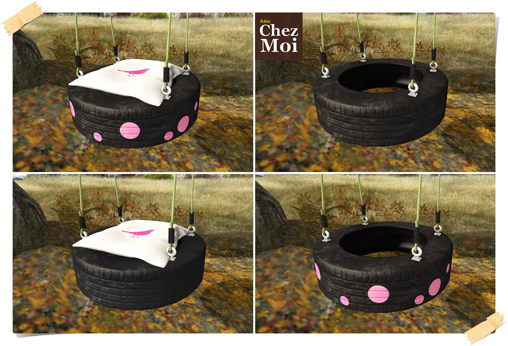 Playful Tire Swing Green Options CHEZ MOI