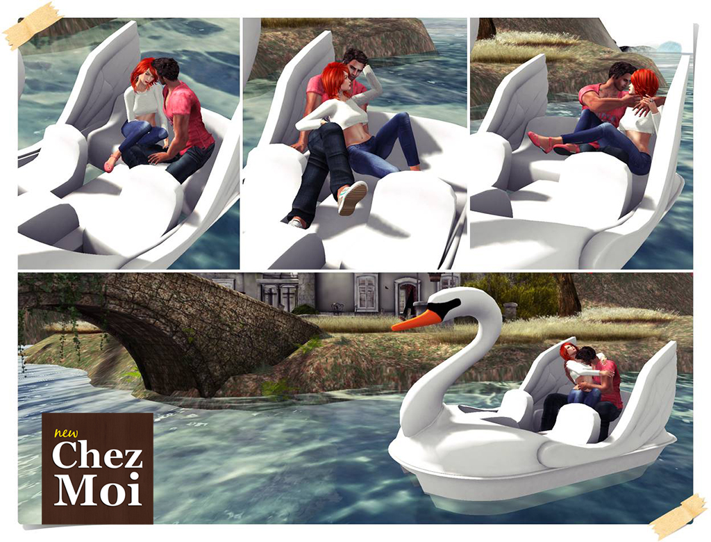 Swan Paddle Boat Couple Poses 1 CHEZ MOI