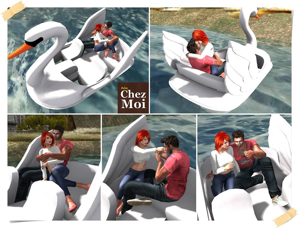 Swan Paddle Boat Couple Poses 2C CHEZ MOI