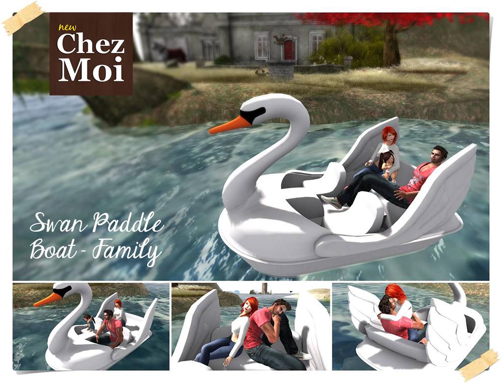 Swan Paddle Boat Family Main CHEZ MOI
