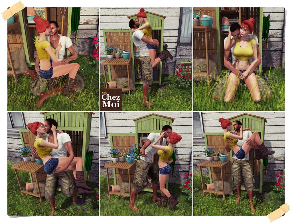 Garden Shed Couple Poses 1 CHEZ MOI