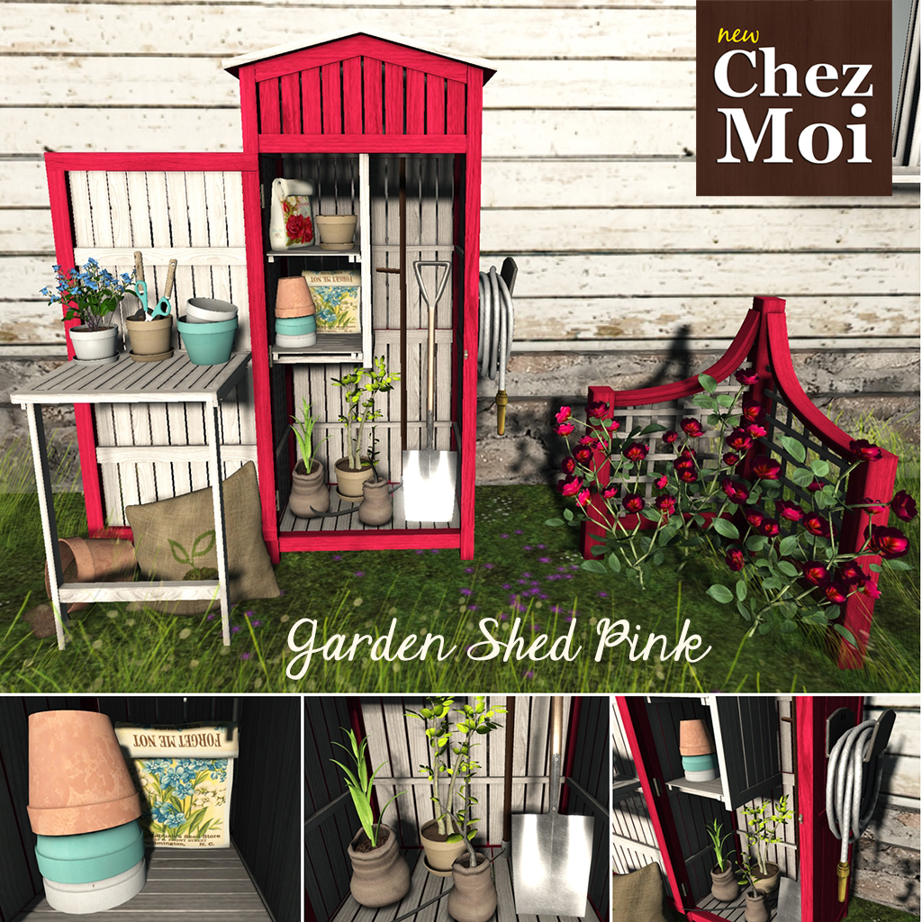 Garden Shed Pink Squared CHEZ MOI
