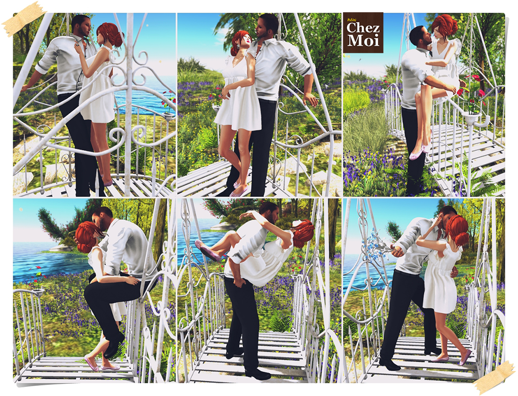 Iron Garden Bridge Couple Poses CHEZ MOI