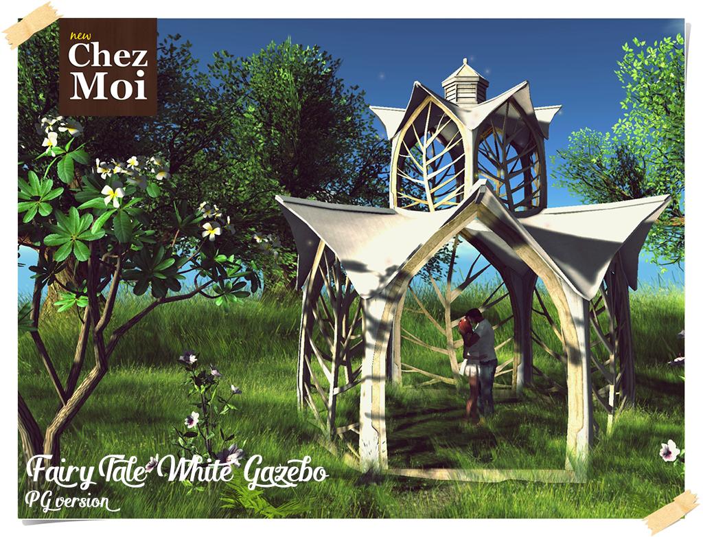 Fairytale White Gazebo PG CHEZ MOI