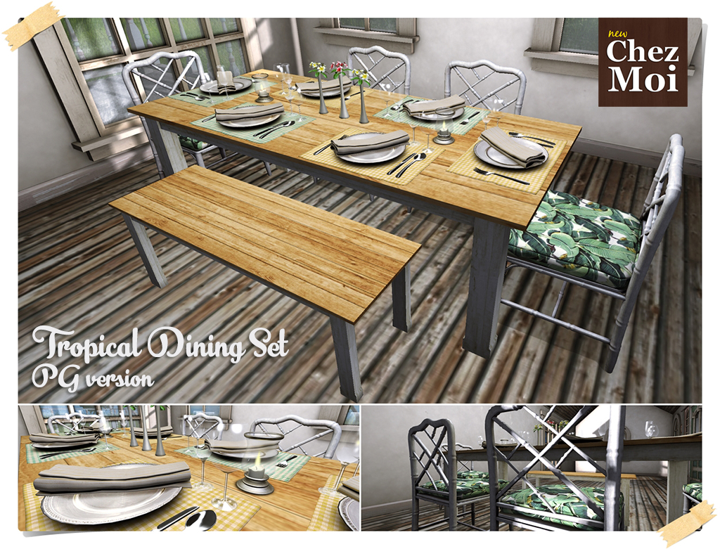 Tropical Dining Set CHEZ MOI. «