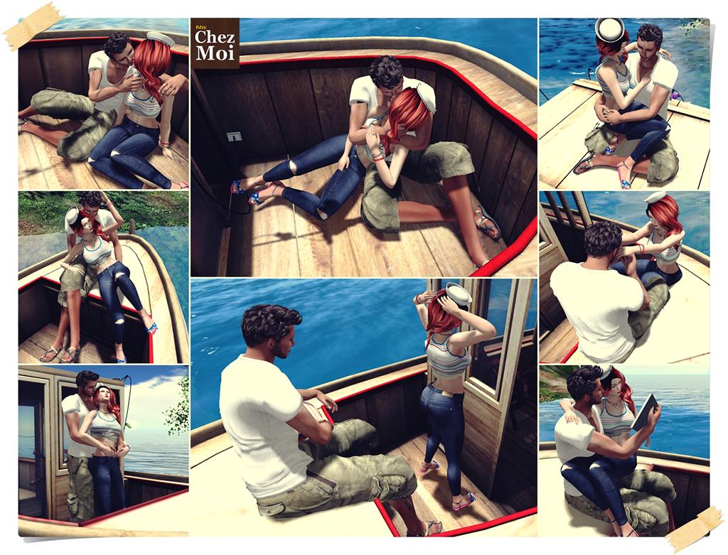 Bon Boyage Boat Couple Poses CHEZ MOI