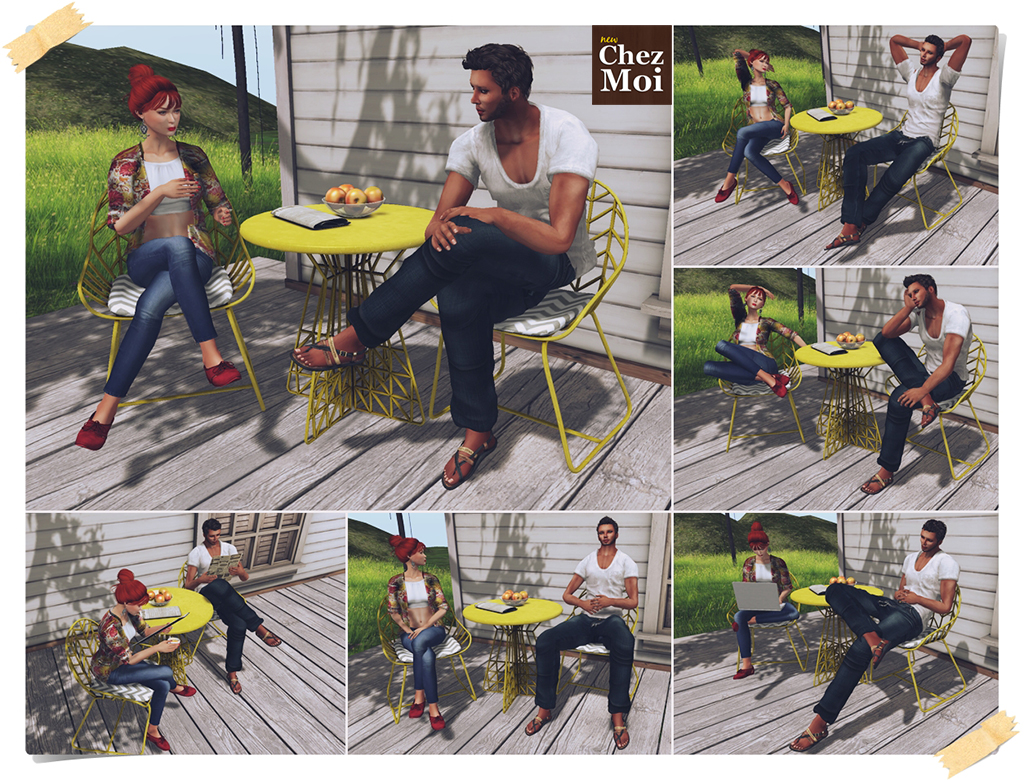Patio Set Simply Wired Single Poses CHEZ MOI