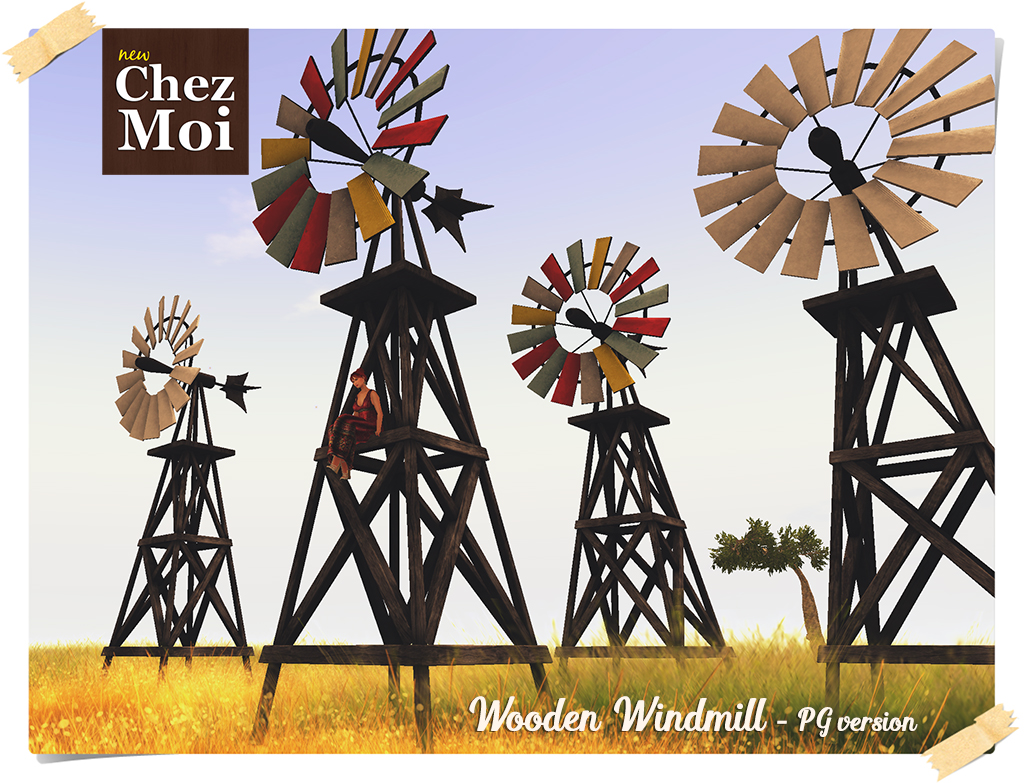 Wooden Windmill PG CHEZ MOI