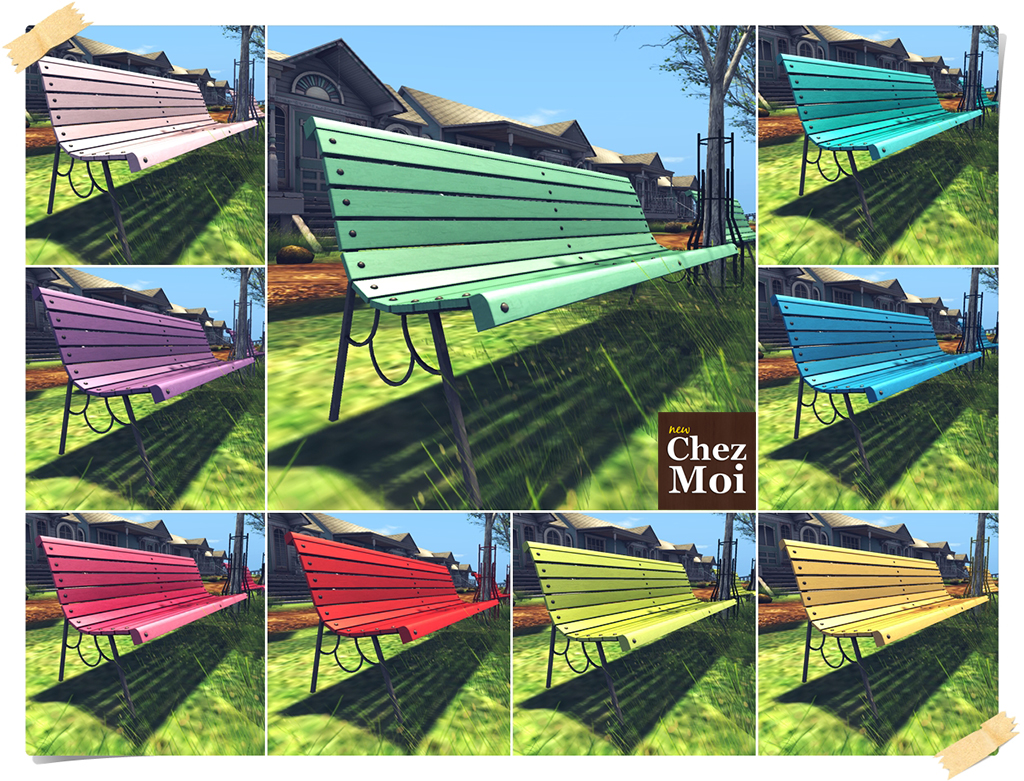 Park Bench Colors CHEZ MOI