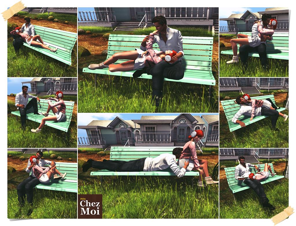 Park Bench Couple CHEZ MOI