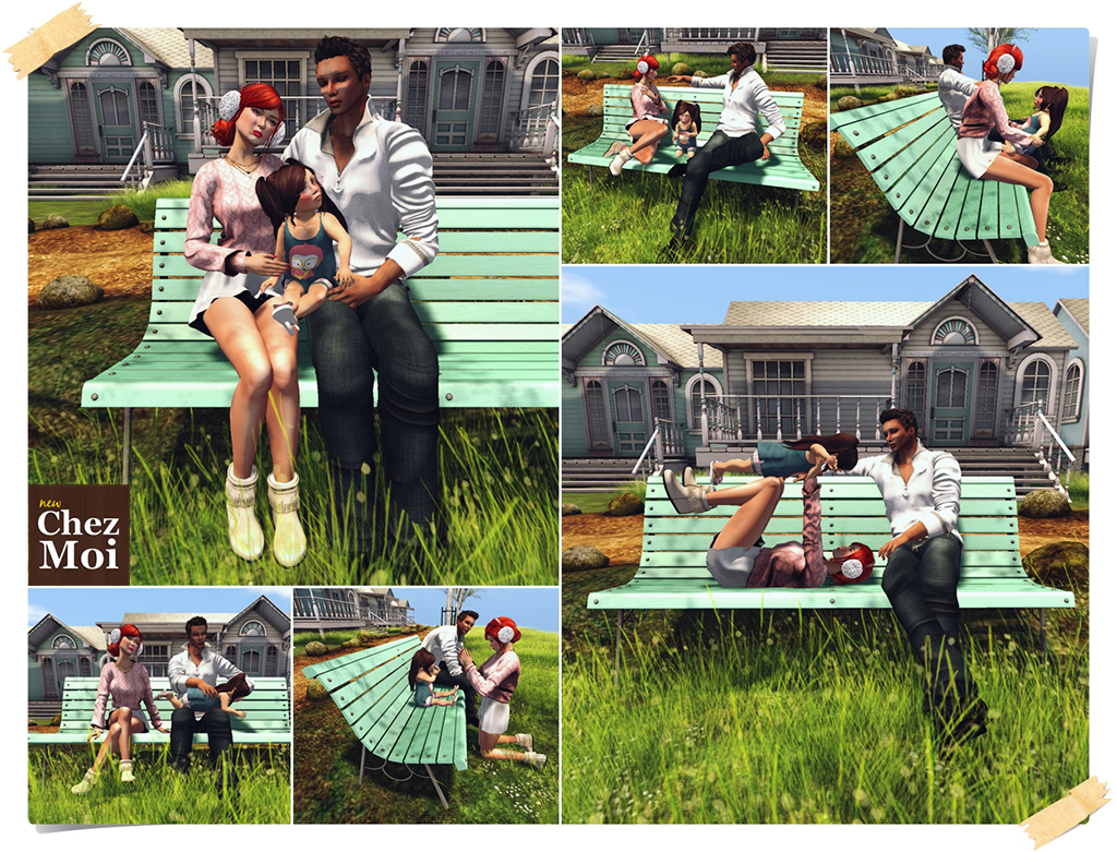 Park Bench Family CHEZ MOI