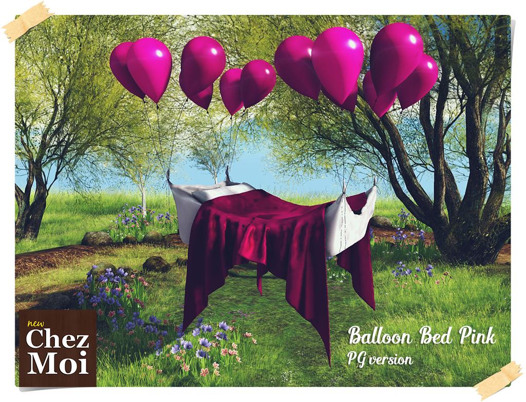 Ballon Bed Pink PG CHEZ MOI