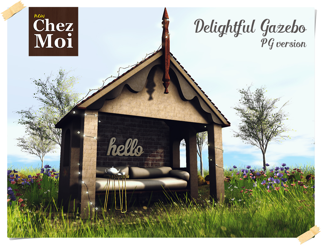 Delightful gazebo PG CHEZ MOI