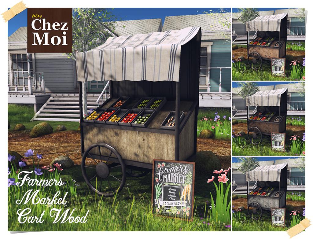 Farmers Market Wood CHEZ MOI