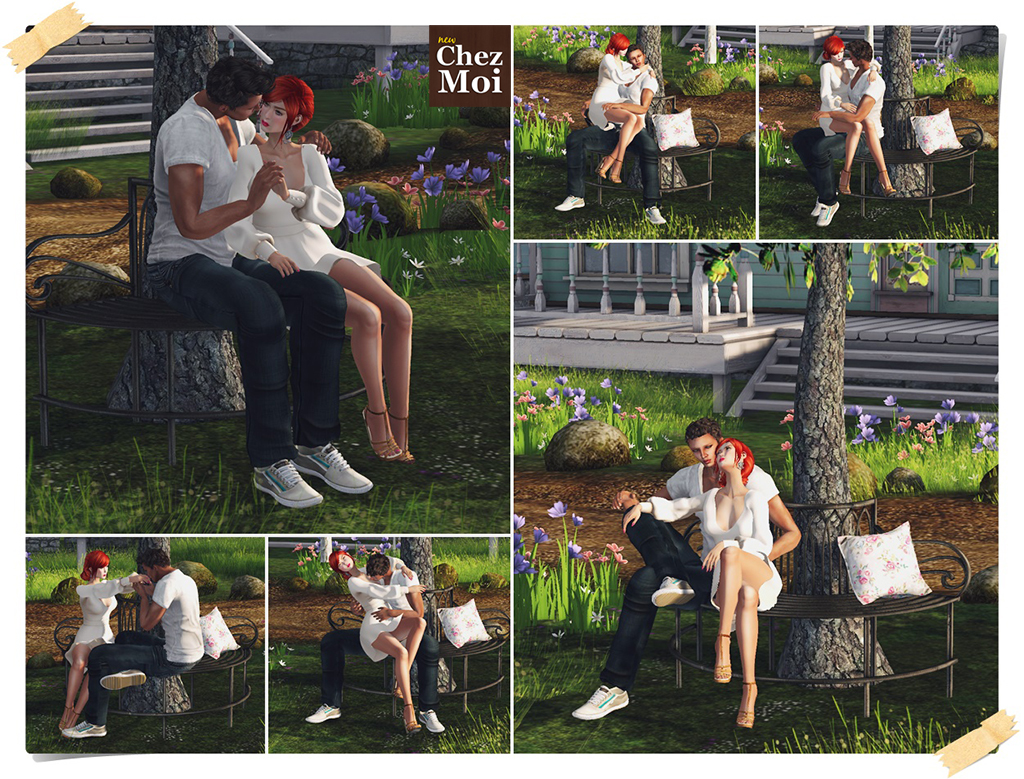 Tree Bench PG2 Poses CHEZ MOI