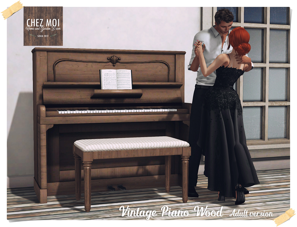 Vintage Piano Wood Adult CHEZ MOI