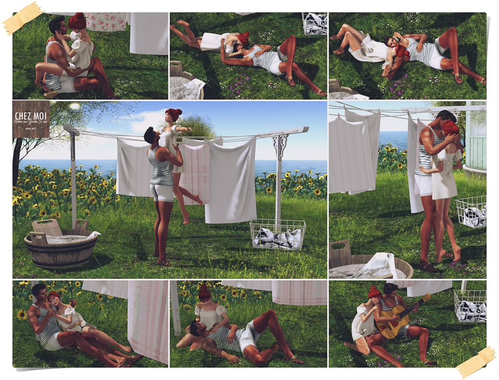 Laundry Day Couple Poses CHEZ MOI
