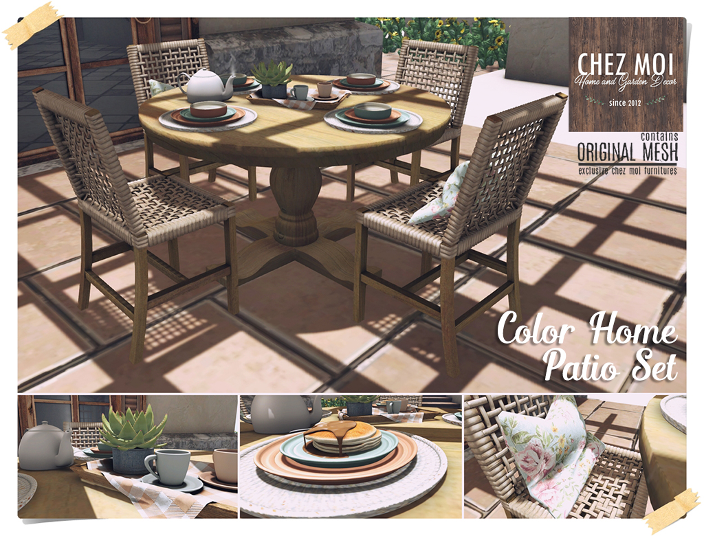 outdoor furniture colors. Color Home Patio Set CHEZ MOI Outdoor Furniture Colors