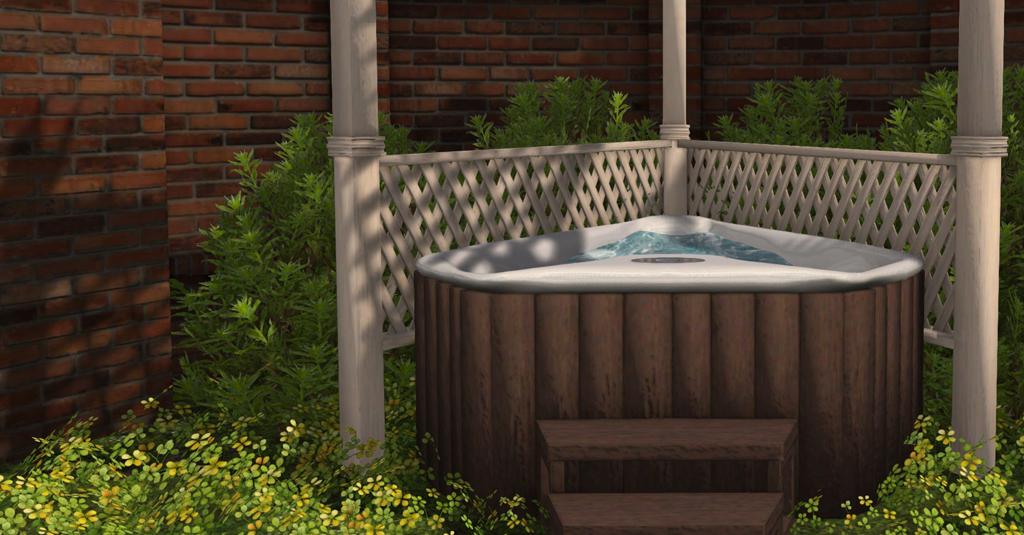 Corner Hot Tub CHEZ MOI